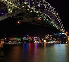 Sydney Harbour at Night by Michael Clarke
