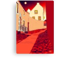 Dysart: Scottish Town digital drawing Canvas Print