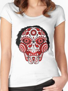 Billy the Puppet Calavera Women's Fitted Scoop T-Shirt