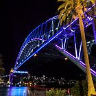 Sydney Harbour Bridge lights by Michael Clarke
