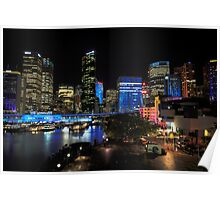 Circular Quay under lights Poster