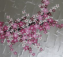 zen Japanese Cherry Blossom tree by cathyjacobs