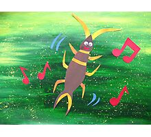 Earwig does a Jig- Animal Rhymes - created from recycled math books Photographic Print