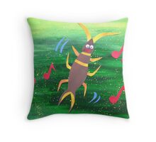 Earwig does a Jig- Animal Rhymes - created from recycled math books Throw Pillow