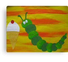 Caterpillar tries vanilla-  Canvas Print