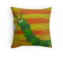 Caterpillar tries vanilla-  Throw Pillow