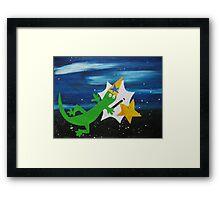 Lizard Wizard Framed Print