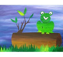 Frog on a Log Photographic Print