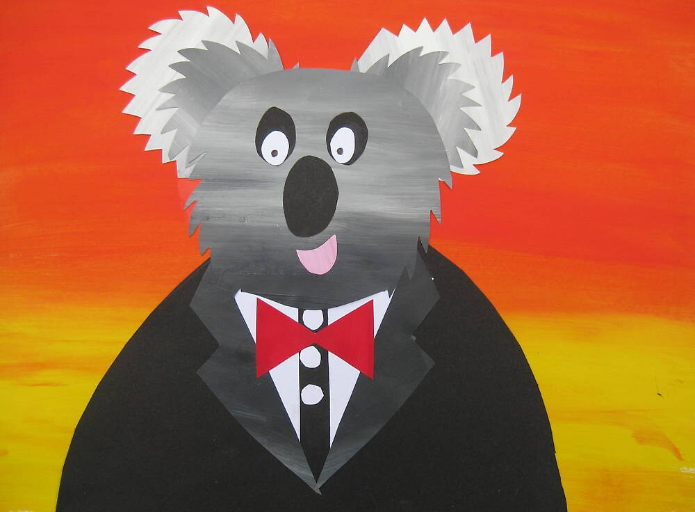 Koala at a Gala- Animal Rhymes - created from recycled math books by cathyjacobs