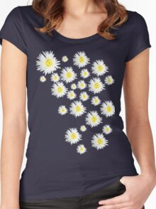 White Flower - daisy like Women's Fitted Scoop T-Shirt