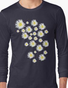 White Flower - daisy like Long Sleeve T-Shirt