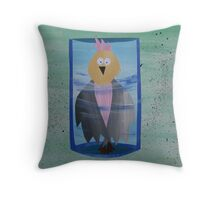 Galah in a Jar - Animal Rhymes - created from recycled math books Throw Pillow