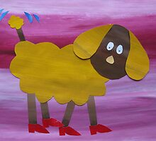 Dog in Clogs - Animal Rhymes - created from recycled math books by cathyjacobs
