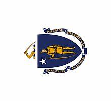 Smartphone Case - State Flag of Massachusetts - Vertical by Mark Podger