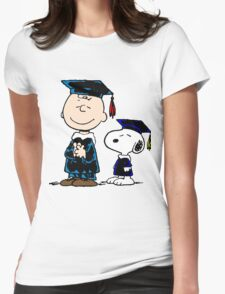 Congrats Snoopy Womens Fitted T-Shirt