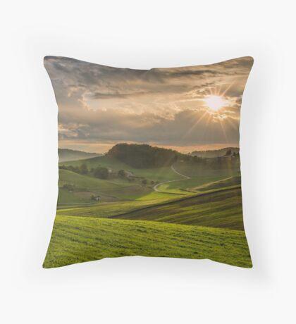 Play of the sun Throw Pillow