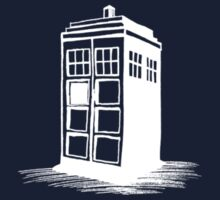 Dr Who's Tardis - White One Piece - Short Sleeve