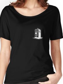 Dr Who's Tardis - White Women's Relaxed Fit T-Shirt