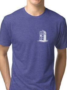 Dr Who's Tardis - White Tri-blend T-Shirt