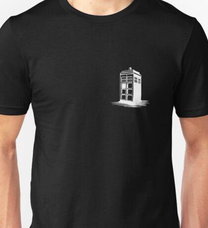 Dr Who's Tardis - White Unisex T-Shirt