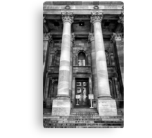 Main entrance Parliament House Adelaide. Canvas Print