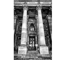 Main entrance Parliament House Adelaide. Photographic Print