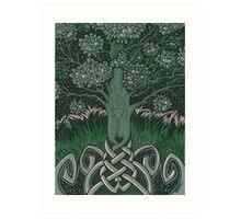 Tree of cognizance - acrylic on board Art Print