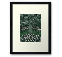 Tree of cognizance - acrylic on board Framed Print