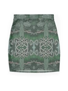 Tree of cognizance - acrylic on board Mini Skirt