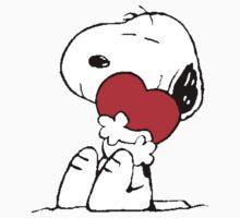 Snoopy Heart Love Kids Tee