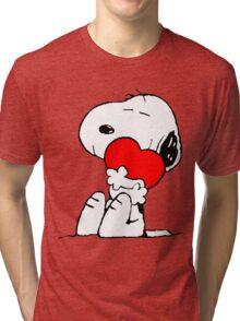 Snoopy Heart Love Tri-blend T-Shirt