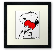 Snoopy Heart Love Framed Print