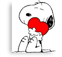 Snoopy Heart Love Canvas Print
