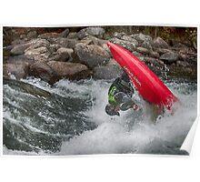 Acrobatic Kayaker Poster