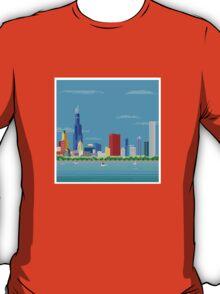 Chicago Pixel Skyline T-Shirt