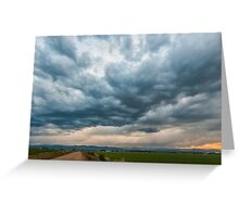 Storm Clouds on The Road Home Greeting Card