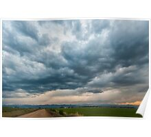 Storm Clouds on The Road Home Poster
