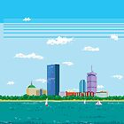 Boston Pixel Skyline by thedailyrobot