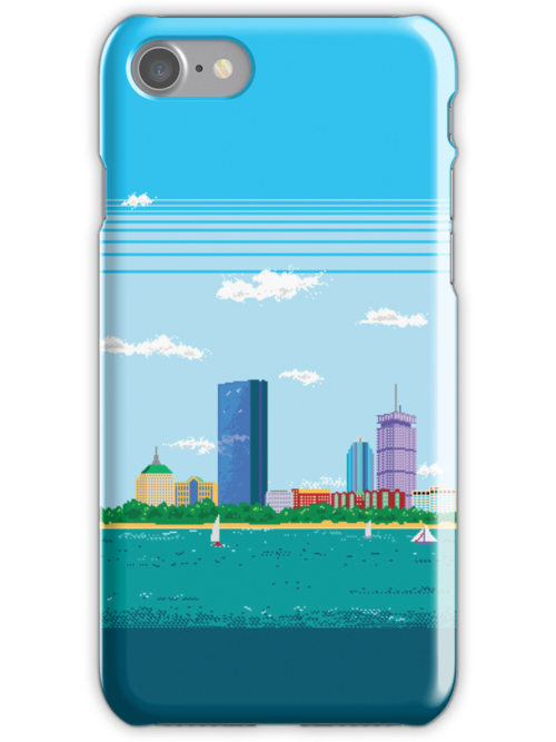 Boston Pixel Skyline by thedailyrobot