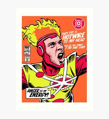 Post-Punk Heroes | Fire Art Print