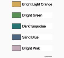 Brick Sorting Labels: Bright Light Orange, Bright Green, Dark Turquoise, Sand Blue, Bright Pink by 9thDesignRgmt