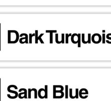 Brick Sorting Labels: Bright Light Orange, Bright Green, Dark Turquoise, Sand Blue, Bright Pink Sticker