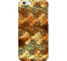 Black Lace Over Golden Highlights  iPhone Case/Skin