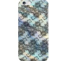 Black Lace Over Pastel Currents iPhone Case/Skin