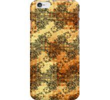 Black Lace over Shimmering Gold iPhone Case/Skin