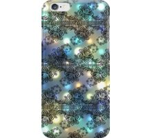 Black Lace Over Soft Pastel Highlights iPhone Case/Skin