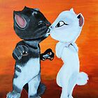 Kissing Cats by maggie326