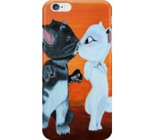 Kissing Cats iPhone Case/Skin