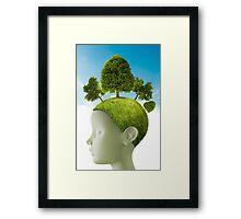 Thinks green Framed Print