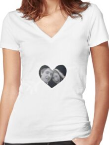 Mr. and Mrs. Pond Women's Fitted V-Neck T-Shirt
